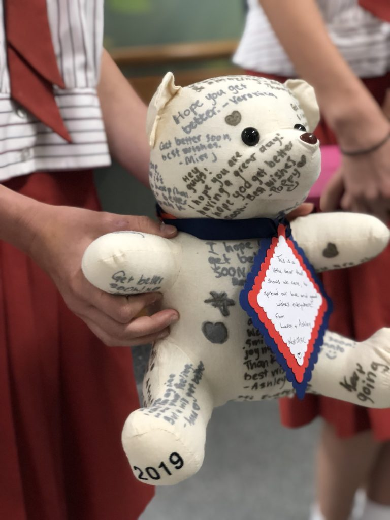 Donated bear from WMAC students