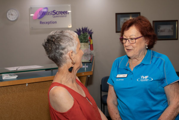 Volunteers offer support at BreastScreen Qld