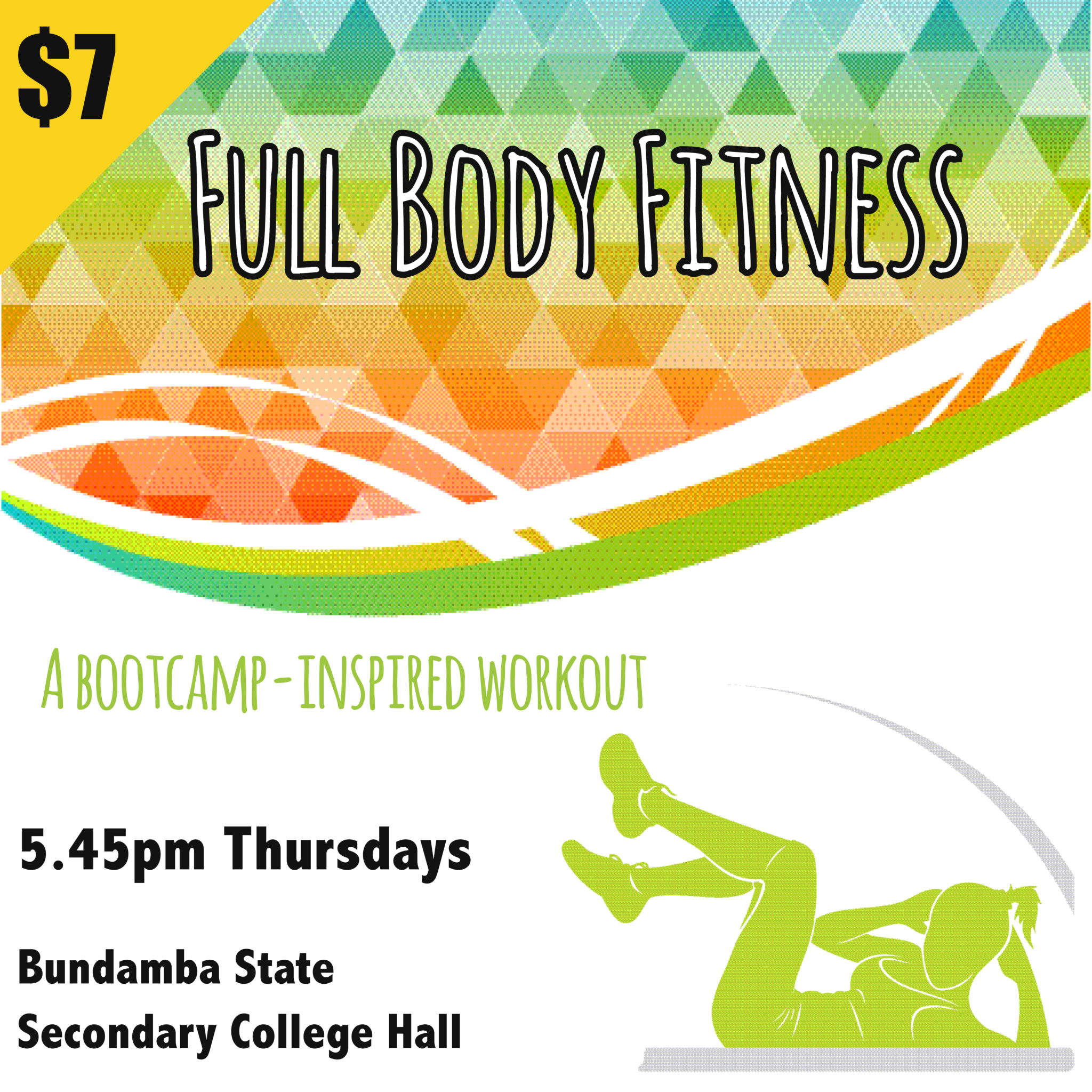 Full Body Fitness 5.45pm Thursdays at Bundamba State Secondary College
