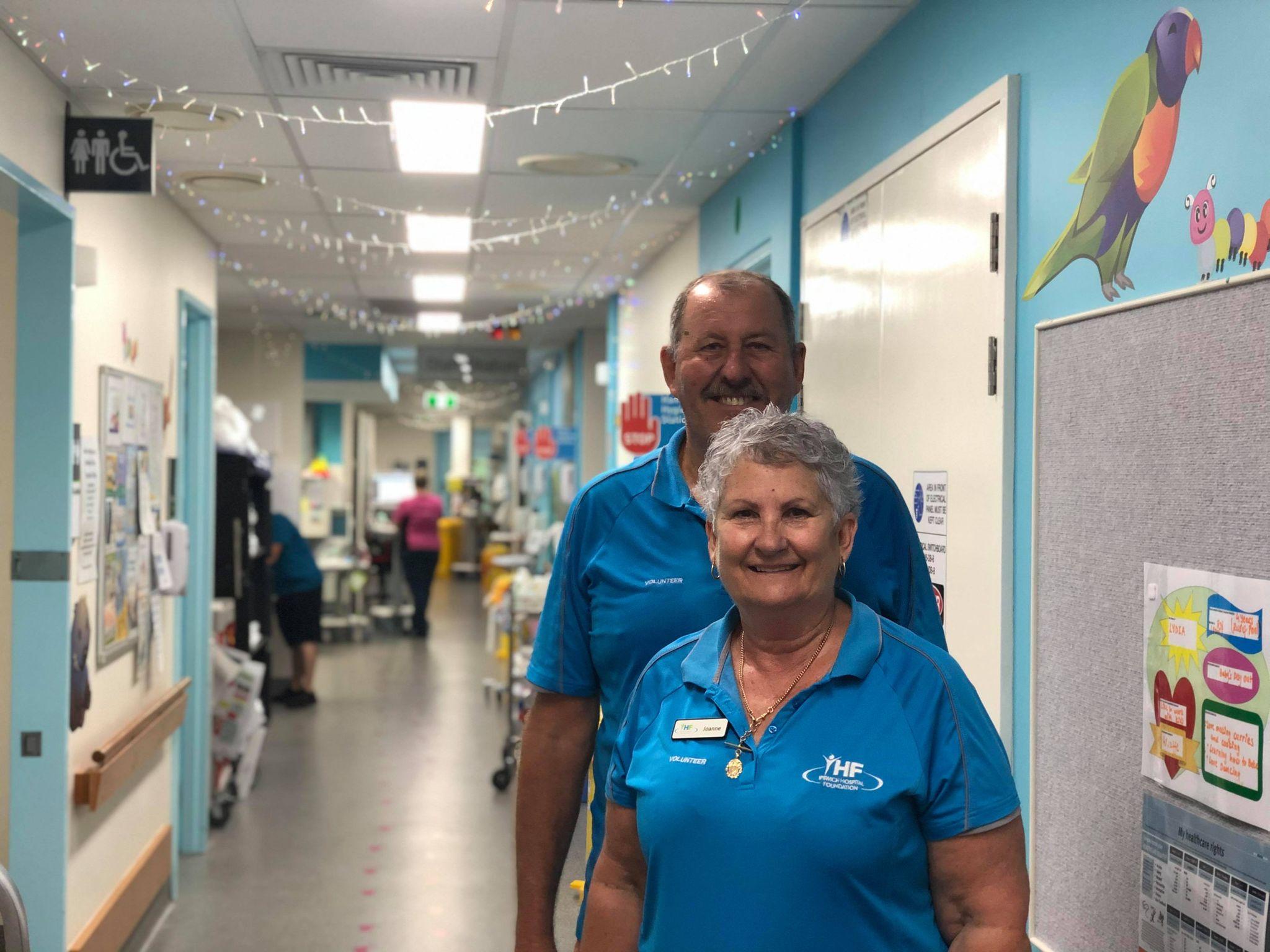 Volunteers, Joanne and Murray